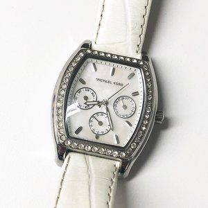Michael Kors White & Silver Crystal Watch MK-5065